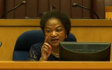 FILE: Speaker Baleka Mbete addresses the media during a briefing held at Parliament on Friday 14 November 2014 following disruptions the previous day. Picture: EWN.
