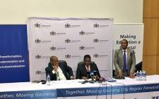 Gauteng Education MEC Panyaza Lesufi briefing the media on the online learner admissions regulations for the 2019 academic year. Picture: Katleho Sekhotho/EWN