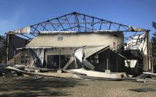 Mary-Ann's Emporium & Eatery on Sir Lowry's Road  burnt down during a fire in the Gordon's Bay area. Picture: Monique Mortlock/EWN