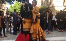 Mandla and Raabia Mandela on the Sona 2018 red carpet. Picture: EWN