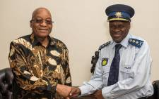 President Jacob Zuma with new SAPS National Commissioner General Khehla John Sitole. Picture: Picture GCIS