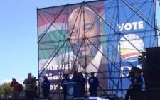 FILE: Mmusi Maimane speaks to DA supporters. He says South Africa's freedom can only be entrusted to DA. Picture: Govan Whittles/EWN.
