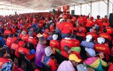 EFF supporters attend the memorial service for struggle icon Winnie Madikizela-Mandela in Brandfort on 11 April 2018. Picture: @EFFSouthAfrica/Twitter