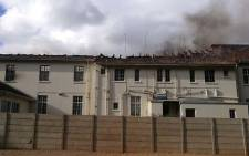 A fire has destroyed a hostel at the De la Bat School for the deaf in Worcester on Monday 21 May 2018. Picture: @DeafsaInfo/Twitter