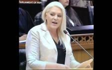 FILE: DA shadow minister of public enterprises Natasha Mazzone. Picture:  @Natasha9Mazzone /Twitter.