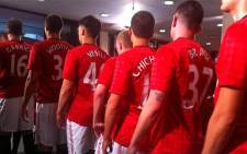 Manchester United players get ready to take on Amazulu at the Moses Mabhida stadium on 18 July 2012. Picture: Alexia Grigoratos via Twitter.
