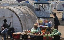 Displaced migrants have created spaza shops inside the Rand Airport Refugee Camp for people displaced during xenophobia. Picture: Taurai Maduna/Eyewitness News