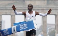 Ethiopian runner Eliud Kipchoge wins the 2017 Berlin Marathon on 24 September 2017. Picture: AFP