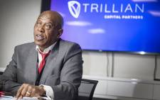 Non-executive Chairman of Trillian Capital Partners, Tokyo Sexwale addressed the media at the company's offices in Johannesburg on 25 May 2017. Picture: Reinart Toerien/EWN