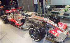 Lewis Hamilton's F1 McLaren car at the Johannesburg International Show. Picture: Abed Ahmed/EWN