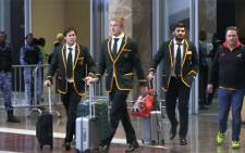 Springboks touch down at OR Tambo airport following a 3rd place consolation at the Rugby World Cup 1015 in England. Picture: Kgothatso Mogale/EWN