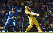 Australia's Mitchell Johnson batting against India in the semifinals of the Cricket World Cup in Sydney on 26 March 2015. Picture: ICC CWC.