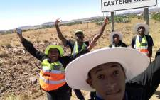 FILE: #Feet4Fees students take a selfie on entering the Eastern Cape. Picture: Supplied.