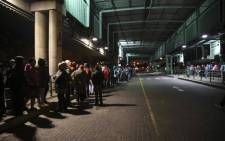 Long queues could be seen at a Mitchells Plain bus terminal in Cape Town on Wednesday morning as commuters waited for alternative transport to get them to work amid nationwide bus strike. Picture: Cindy Archillies/EWN.