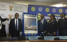 Police Minister Fikile Mbalula has officially launched the six-point plan aimed at addressing the scourge of gender-based violence. Picture: Thando Kubheka/EWN.