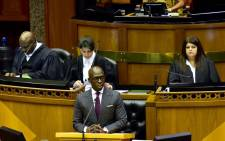 FILE: Finance Minister Malusi Gigaba delivering the Budget speech in Parliament on 21 February 2018. Picture: Twitter/@GovernmentZA.