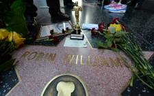 Robin Williams' star on the Hollywood Walk of Fame is seen, August 11, 2014, in Hollywood, California. Academy Award-winning actor and comedian Robin Williams was found dead in his Marin County home earlier today of an apparent suicide. He was 63 years old.   Picture: AFP