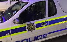 Two police officials were photgraphed sleeping while on duty over the weekend. Picture: @Abramjee on Twitter.