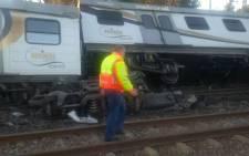 A train crash in Elandsfontein. Picture: Twitter/@EWNTraffic