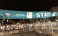 Runners seen at the starting line ahead of the 2018 Two Oceans Marathon in Cape Town, on 31 March 2018. Picture: Bertram Malgas/EWN.