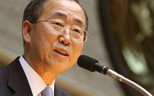 UN Secretary-General Ban Ki-moon addressing the Town Hall meeting at the UN Office at Nairobi, 31 January 2007. Ban, 62, has become the first Asian to head the UN in more than 30 years. Picture: Siegfried Modola/IRIN