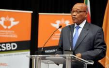President Jacob Zuma speaks in Soweto. Picture: GCIS