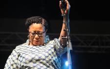 Celebrated jazz vocalist Sibobgile Khumalo at the 2016 Standard Bank Joy of Jazz Festival. Picture: Katleho Sekhotho/EWN