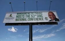 ANC Mangaung conference billboard in Bloemfontein. Picture: Taurai Maduna/EWN