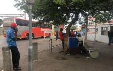 Empty buses leaving the Bosman bus station. Picture: Mia Lindeque/EWN.
