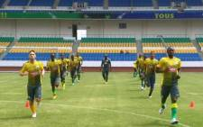Bafana Bafana about to play their last friendly against Mali on 14 January 2014 ahead of the start of the Afcon. Picture: Twitter via @lead_sa