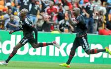 FILE: Orlando Pirates players celebrate a goal. Picture: Facebook