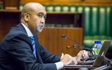 FILE: National Director of Public Prosecutions Shaun Abrahams speaks in Parliament regarding the charges against Minister of Finance Pravin Gordhan. Picture: Anthony Molyneaux/EWN.