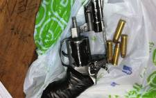 Officers in Cape Town arrested two people after they were found in possession of illegal firearms and ammunition in Manenberg. Picture: @SAPoliceService