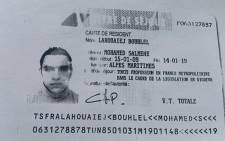 This image obtained by AFP from a French police source shows a reproduction of the residence permit of Mohamed Lahouaiej-Bouhlel, the man who rammed his truck into a crowd celebrating Bastille Day in Nice on July 14. Picture: AFP.