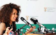 FILE: Minister of International Relations and Cooperation Lindiwe Sisulu addresses DIRCO staff on 6 March 2018. Picture: GCIS