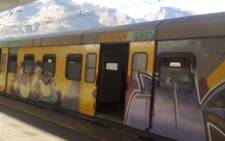A Metrorail train at Cape Town station. Picture: EWN.