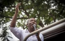 FILE: Julius Malema addresses EFF supporters. Picture: Thomas Holder/EWN.