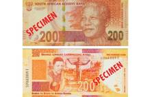 An example of the Mandela commemorative R200 banknote. Picture: SARB