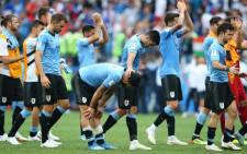 Uruguay leaves the field after being defeated by France during their 2018 World Cup quarter-final. Picture: @FIFAWorldCup/Twitter