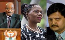 FILE: President Jacob Zuma, Advocate Thuli Madonsela and Atul Gupta. Picture: EWN.