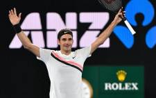 file: Swiss tennis legend Roger Federer celebrates winning the Australian Open title on 28 January 2018. Picture: @AustralianOpen/Twitter.