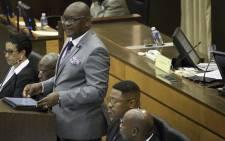 Gauteng Premier David Makhura speaking at the Gauteng Legislature on 26 February 2018.  Picture: Sethembiso Zulu/EWN.
