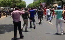 FILE: Almost 200 Congolese nationals protested at the Democratic Republic of Congo embassy in Pretoria as part of a worldwide protest by Congolese nationals at embassies calling on their President Joseph Kabila to step down. Picture: ER24.