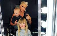Artist Pink with her daughter, Willow Sage Hart, and son Jameson Moon Hart. Picture: @p!nk/instagram.com