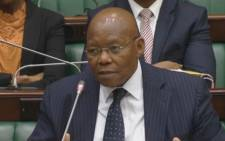 FILE: A screengrab of Ben Ngubane answering questions in Parliament. Picture: Supplied.