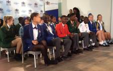 Some of Gauteng's top matric achievers from the class of 2017 at an event in Lyndhurst on 5 January, 2018. Picture: Thando Kubheka/EWN