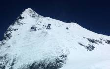 A view of South Col near the summit of Mount Everest. Picture: AFP