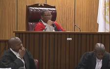 FILE: A screengrab of a Pretoria High Court judge listening to testimony in the Ahmed Timol death inquest. Picture: Supplied.