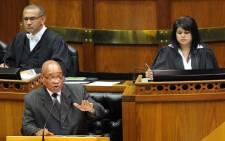 President Jacob Zuma in Parliament. Picture: GCIS.