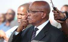 President Jacob Zuma visits Marikana, after 44 people were killed during mine protests. Picture: Taurai Maduna/EWN.